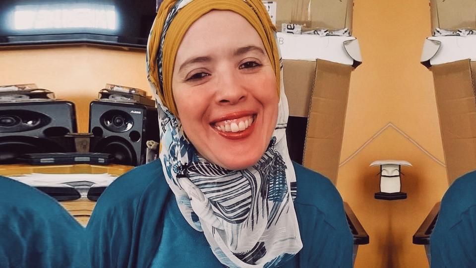 Marokkanerin gegen das neue Coronavirus