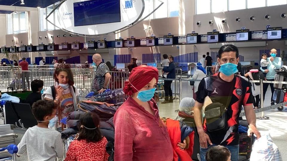 Marokkaner am Flughafen