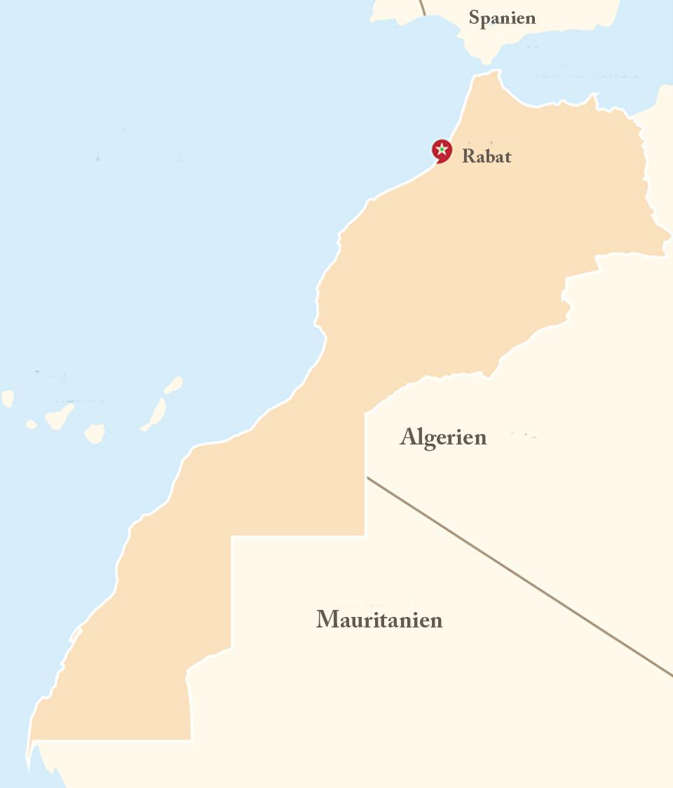 marokkanische karte